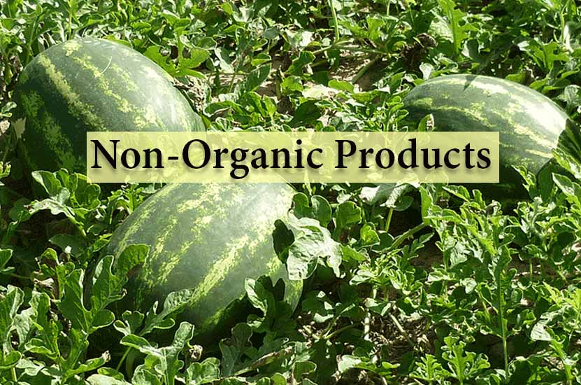 محصولات غیر ارگانیک